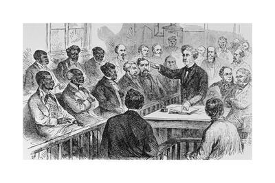Illustration of a Group Serving Jury Duty