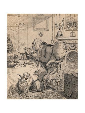Illustration of King George III Dining with His Queen