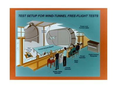 Wind Tunnel Free Flight Schematic