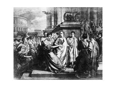 Julius Caesar and Wife in Crowd