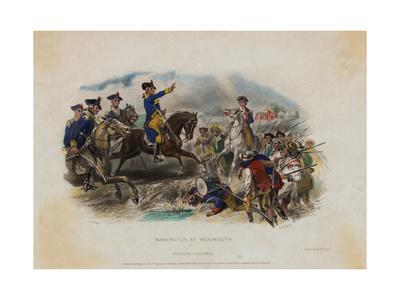 George Washington and His Men during Monmouth Battle