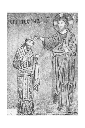 Christian Depiction with King Roger II