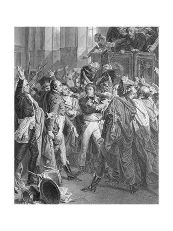 Engraving after General Bonaparte in the Counsel of 500 in Saint Cloud by Francois Bouchot