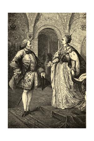 Denis Diderot and Catherine II the Great