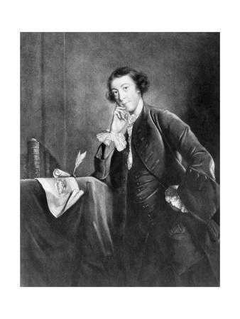 Engraving by James Mcardell after Horace Walpole by Joshua Reynolds