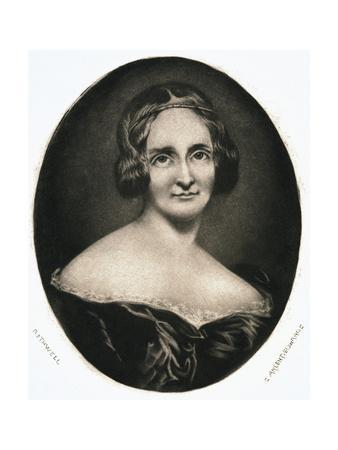 Engraving after Mary Wollstonecraft Shelley by Richard Rothwell
