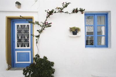 Greece, Cyclades Islands, Paros, Naoussa, Doorway of House