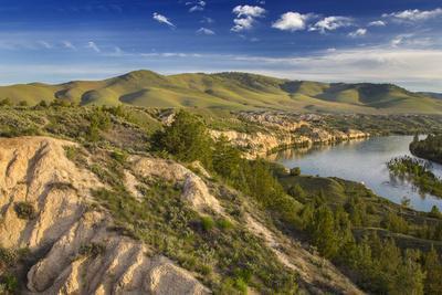 Clay Cliffs Along the Flathead River Near Ronan, Montana, Usa