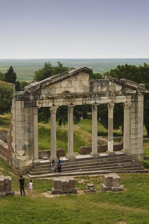 Albania, Fier, Ruins of the Greek City of Apollonia, Stone Façade