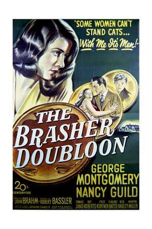 The Brasher Doubloon - Movie Poster Reproduction