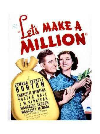 Let's Make a Million - Movie Poster Reproduction