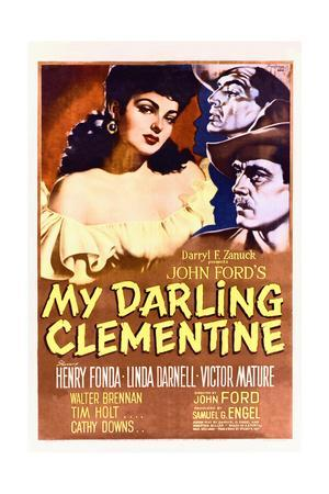 My Darling Clementine - Movie Poster Reproduction