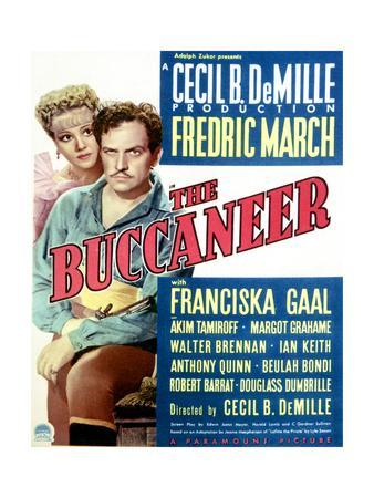 The Buccaneer - Movie Poster Reproduction