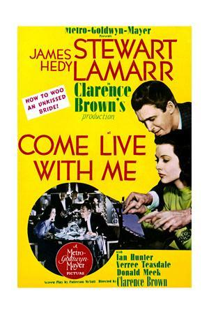 Come Live with Me - Movie Poster Reproduction