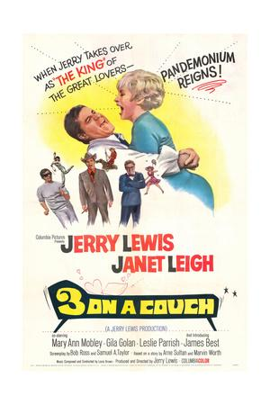 Three on a Couch - Movie Poster Reproduction