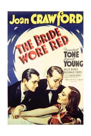 The Bride Wore Red - Movie Poster Reproduction