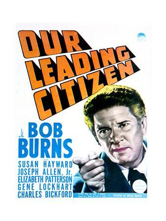 Our Leading Citizen - Movie Poster Reproduction