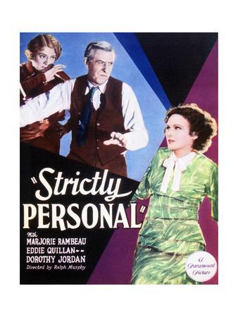 Strictly Personal - Movie Poster Reproduction