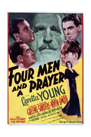 Four Men and a Prayer - Movie Poster Reproduction