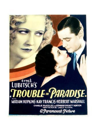 Trouble in Paradise - Movie Poster Reproduction