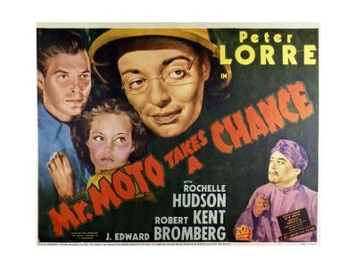 Mr. Moto Takes a Chance - Lobby Card Reproduction