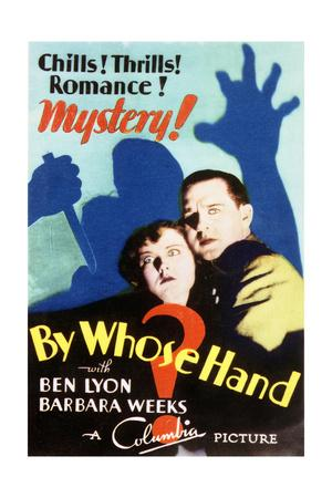 By Whose Hand? - Movie Poster Reproduction