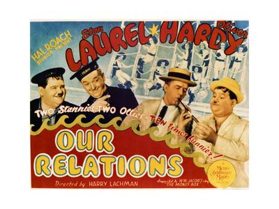 Our Relations - Lobby Card Reproduction