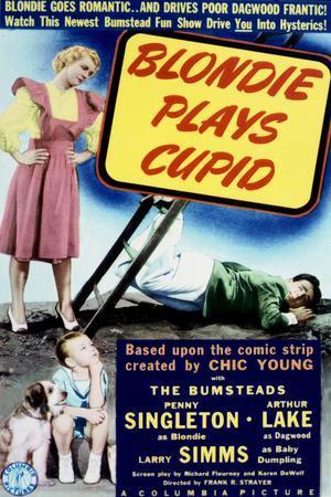 Blondie Plays Cupid - Movie Poster Reproduction