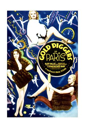 Gold Diggers in Paris - Movie Poster Reproduction