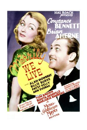 Merrily We Live - Movie Poster Reproduction