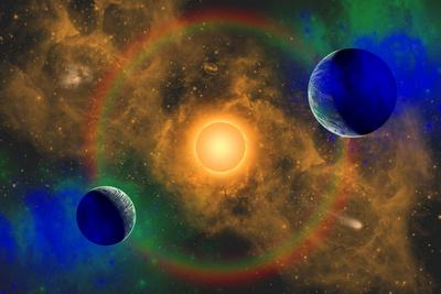 A Nebulous Alien Planetary Star System
