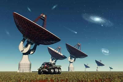 A Deep Space Tracking Station on an Alien Planet