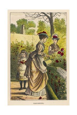 Watering Garden, Girls Ow