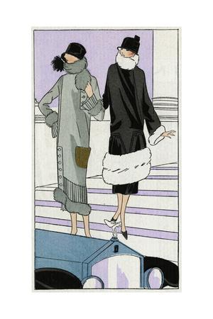 Two Ladies in Coats Designed by Drecoll and Jenny