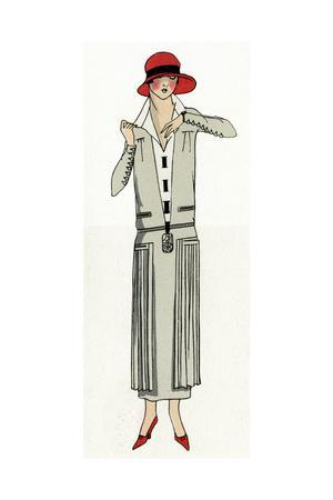 Young Lady in Grey Suit by Jean Patou