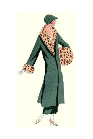 Woman in Green Coat by Jeanne Lanvin