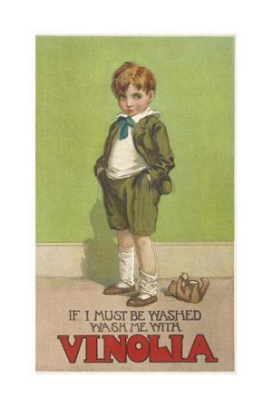 Boy in Vinola Soap Ad