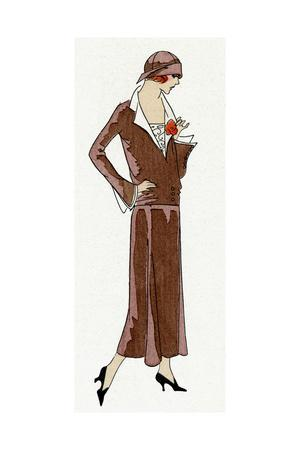 Young Lady in Plain Brown Dress by Jean Patou