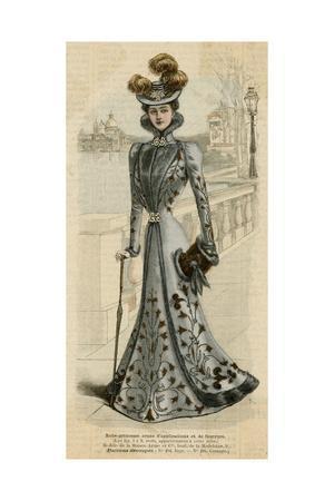 Fur Trim Gown 1899