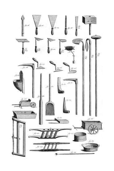 Masonry Tools 18th C. Giclee Print at AllPosters.com