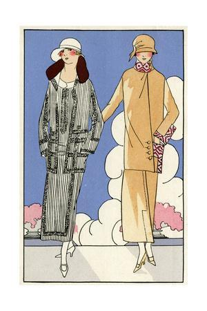 Two Women in Outfits by Martial Et Armand, and Bernard