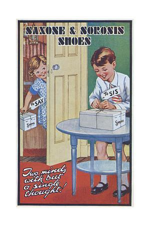 Advertisement for Saxone Shoes