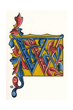 Illuminated Letter W