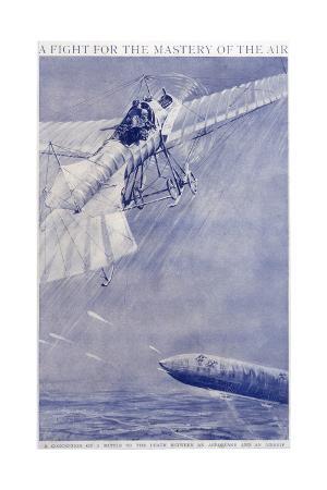 Aeroplane Airship Duel