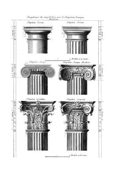 Columns Classical Orders Giclee Print at AllPosters.com