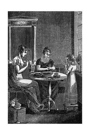 Making Straw Hats 1827