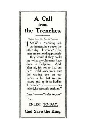 WW1 - Recruitment Advertisement