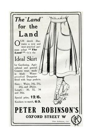 Advert for Peter Robinson's Practical Garment