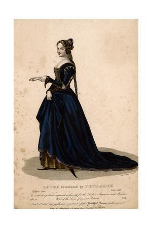 Laura de Noves, Blue Dres