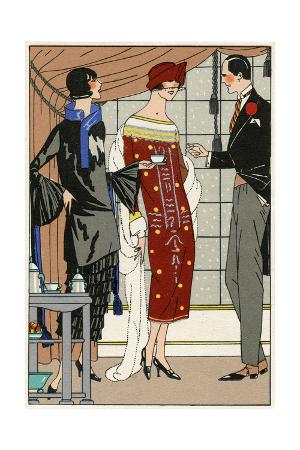 Two Ladies in Outfits by Paul Poiret
